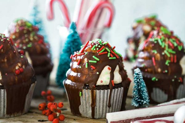 Christmas cakes and sweets
